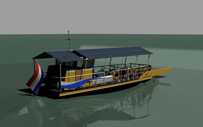 Unique project, fully electrical ferry